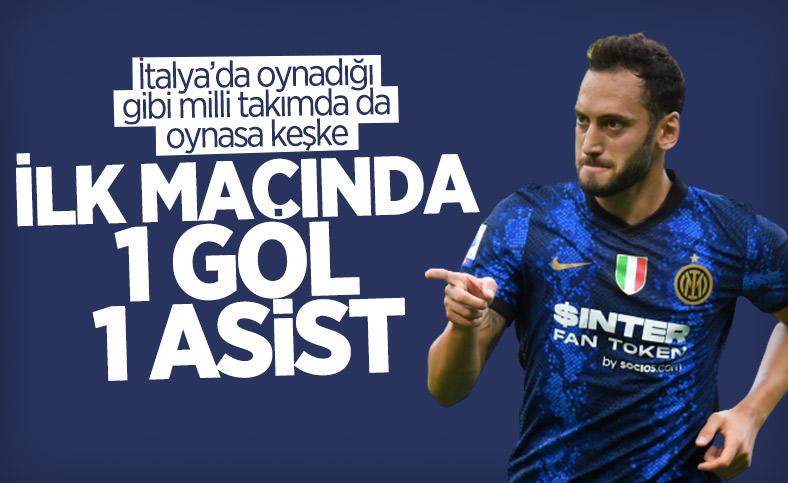 Hakan Çalhanoğlu'ndan Inter kariyerine muhteşem başlangıç