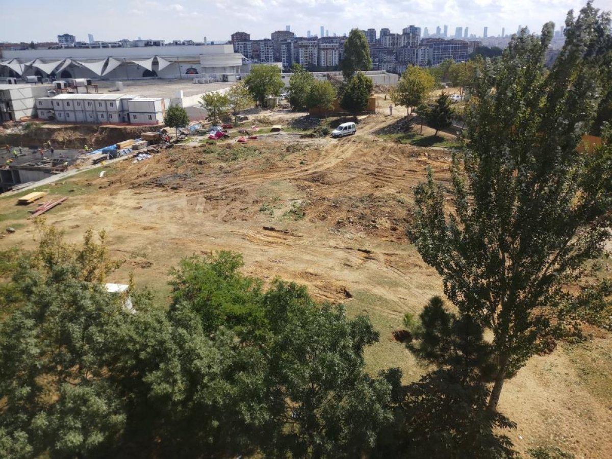Eyüpsultan da parkın yıkımına tepki: Taksim de üç tane ağaç yıkılacak diye ayağa kalktınız #1