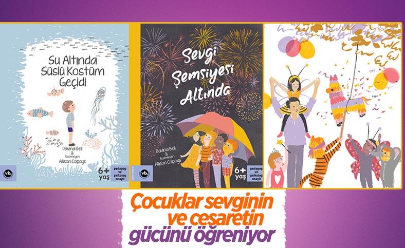 Su Altında Süslü Kostüm Geçidi ve Sevgi Şemsiyesi Altında isimli çocuk kitapları