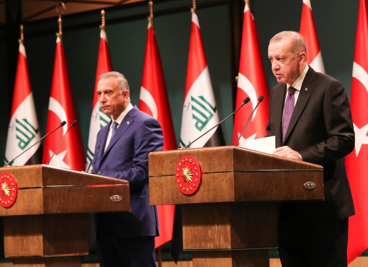 Cumhurbaşkanı Erdoğan, Merkel in ardından Irak Başbakanı Mustafa Kazımi yle görüştü #1