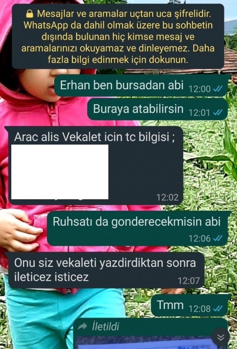 Bursa'da otomobil almak isterken 119 bin lira dolandırıldı #3