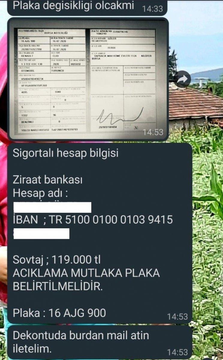 Bursa'da otomobil almak isterken 119 bin lira dolandırıldı #4