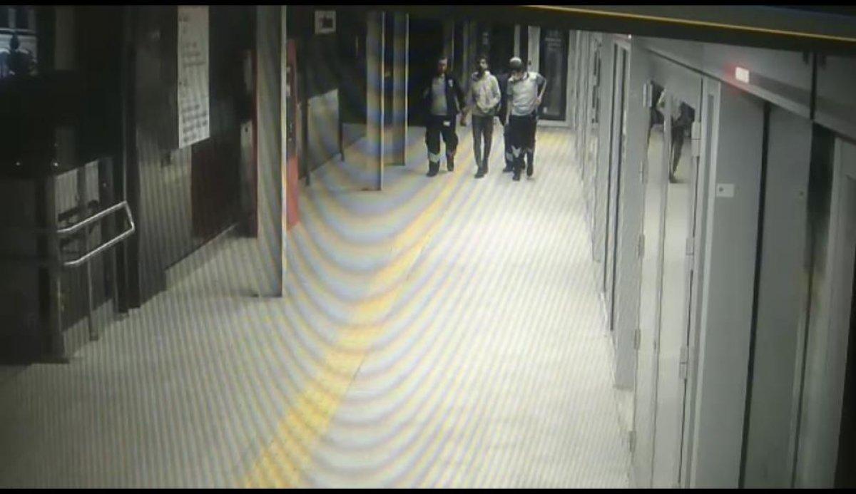 Kağıthane metrosuna intihar ihbarı için giden polis, hırsızı suçüstü yakaladı #3