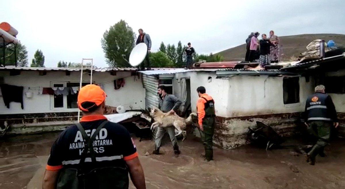 Kars ın köylerinde sel etkili oldu #2