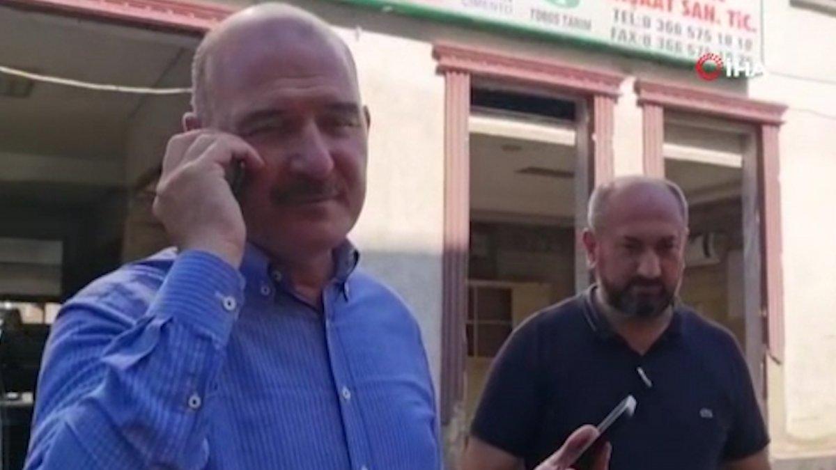 Süleyman Soylu, selde Kur'an kursu öğrencilerini kurtaran emekli astsubaya teşekkür etti #1