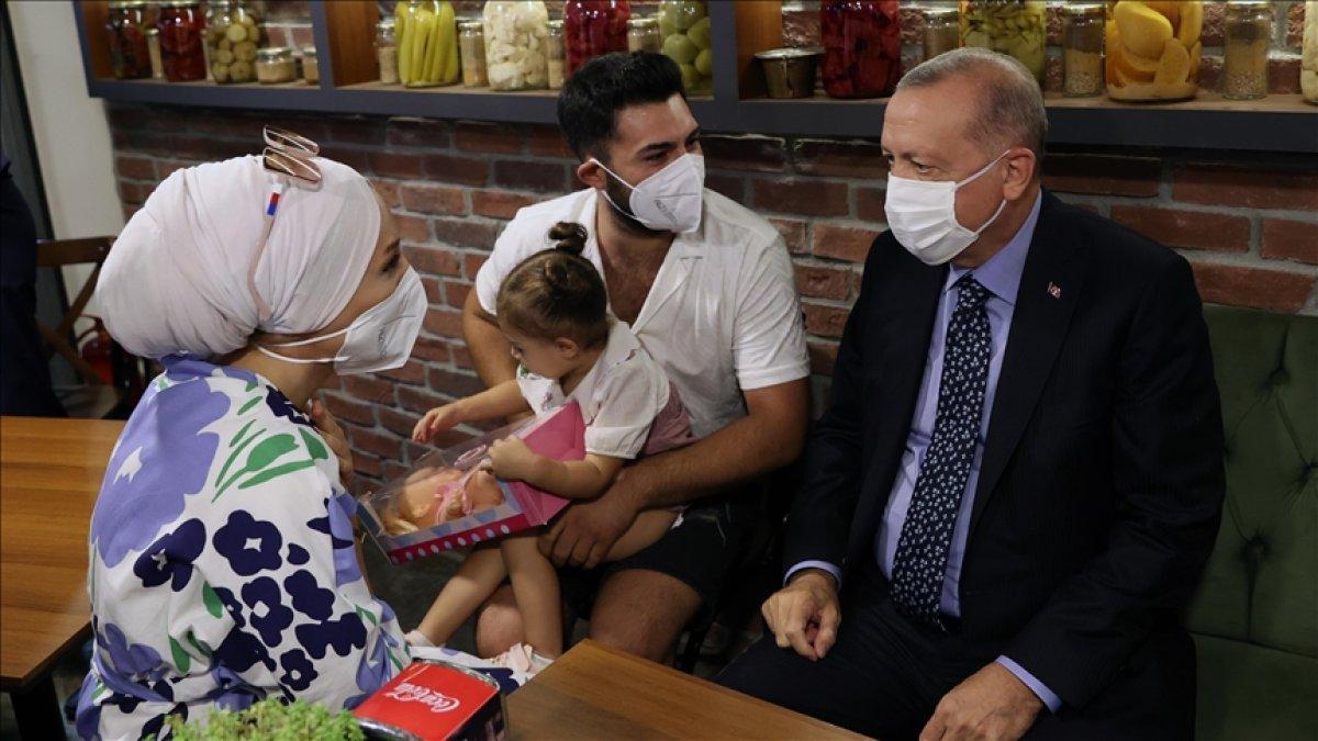 Çengelköy de Cumhurbaşkanı Erdoğan a sevgi seli #3
