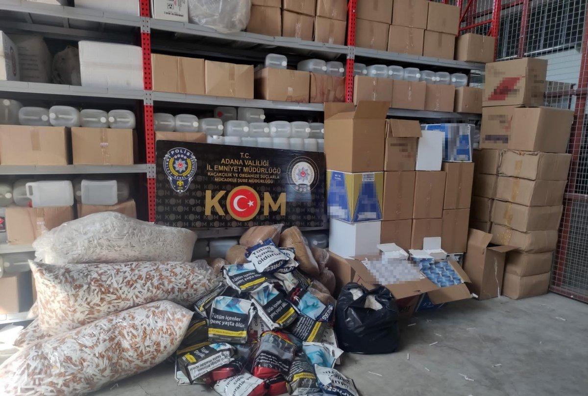 Adana'da kaçak tütün operasyonu: 4 gözaltı #1