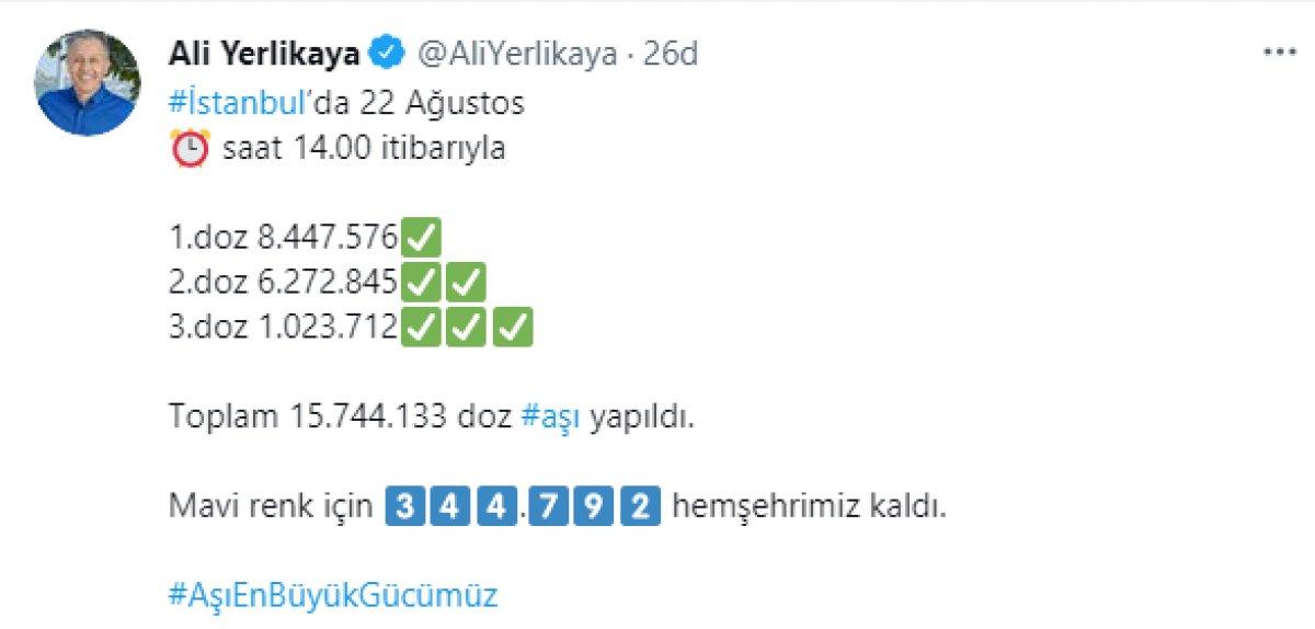 Ali Yerlikaya, İstanbul da aşı yaptıranların sayısını açıkladı #2