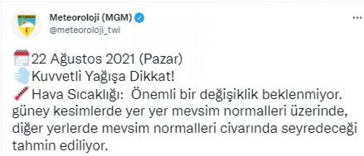 Meteorolojiden İstanbul ve çevresi için sağanak yağış uyarısı #11