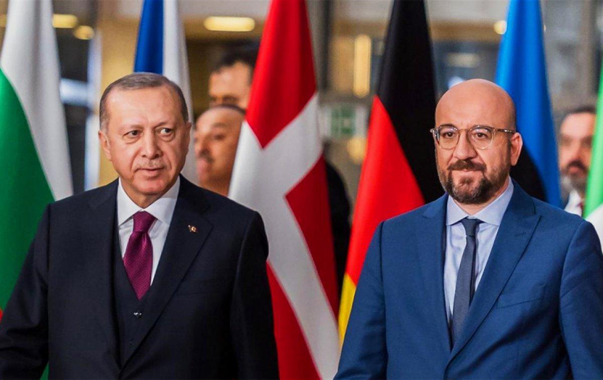 Cumhurbaşkanı Erdoğan, AB Konseyi Başkanı Michel ile görüştü #1