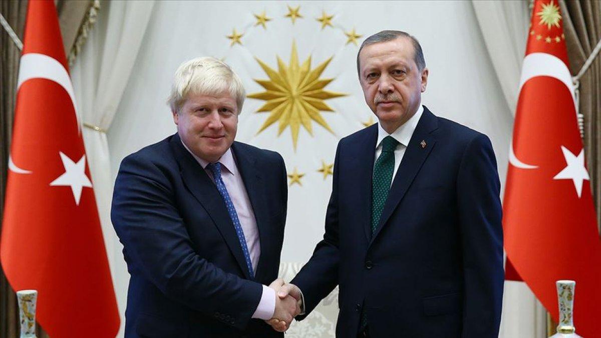 Cumhurbaşkanı Erdoğan, Boris Johnson ile görüştü #1