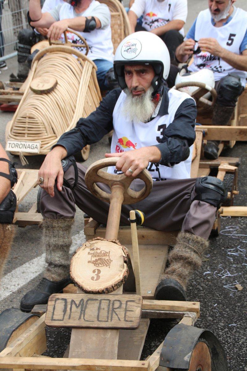 Rize'de 'Formulaz' yarışında tahta arabalar kıyasıya mücadele etti  #9