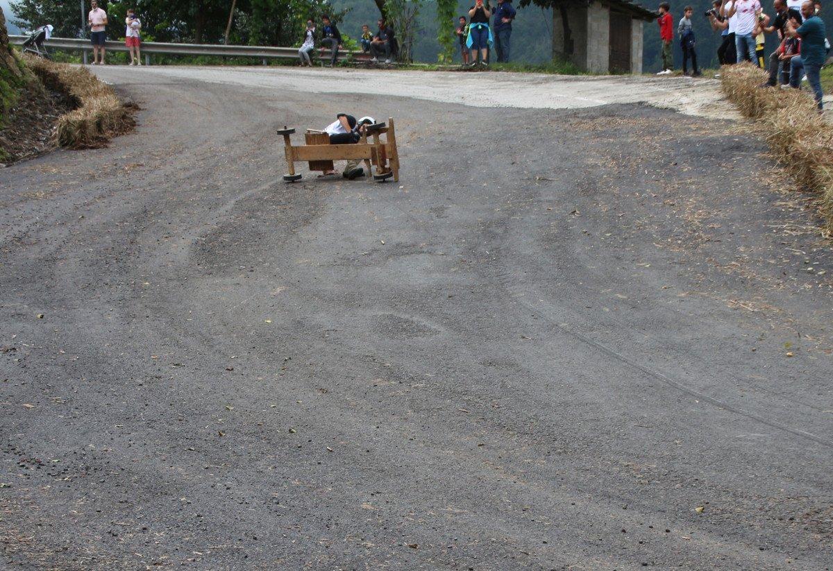 Rize'de 'Formulaz' yarışında tahta arabalar kıyasıya mücadele etti  #7