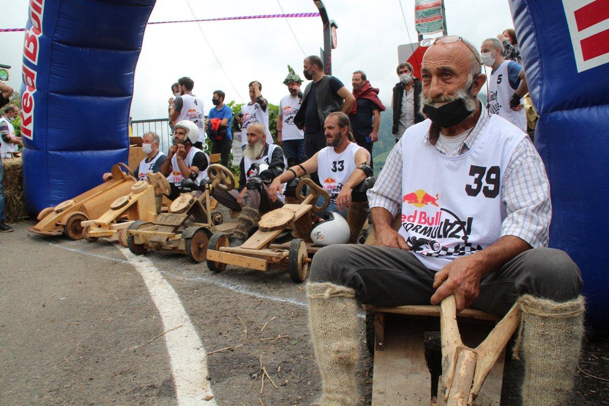 Rize'de 'Formulaz' yarışında tahta arabalar kıyasıya mücadele etti  #5
