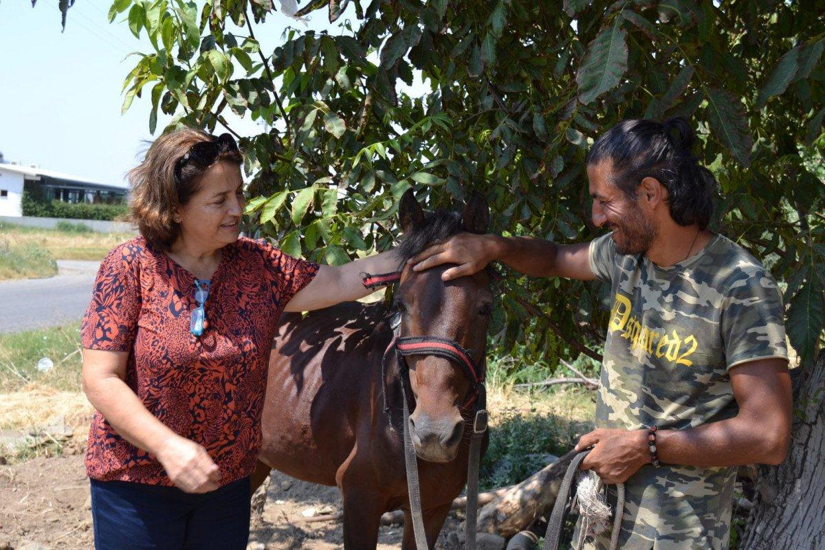 Doğa ve hayvan haklarına dikkat çekmek için atı ile yürüyor #1