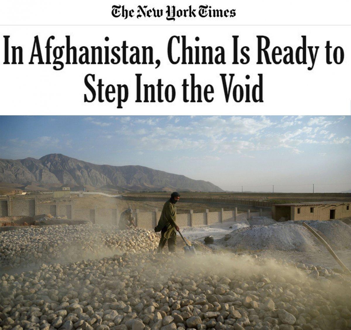 New York Times: Çin, Afganistan daki boşluğu doldurmaya hazır #2