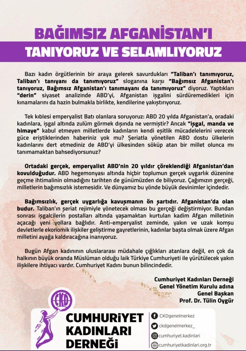 Gülgün Feyman, Cumhuriyet Kadınları Derneği nden istifa etti #1