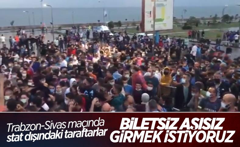 Trabzonspor taraftarları stada biletsiz girmek istedi