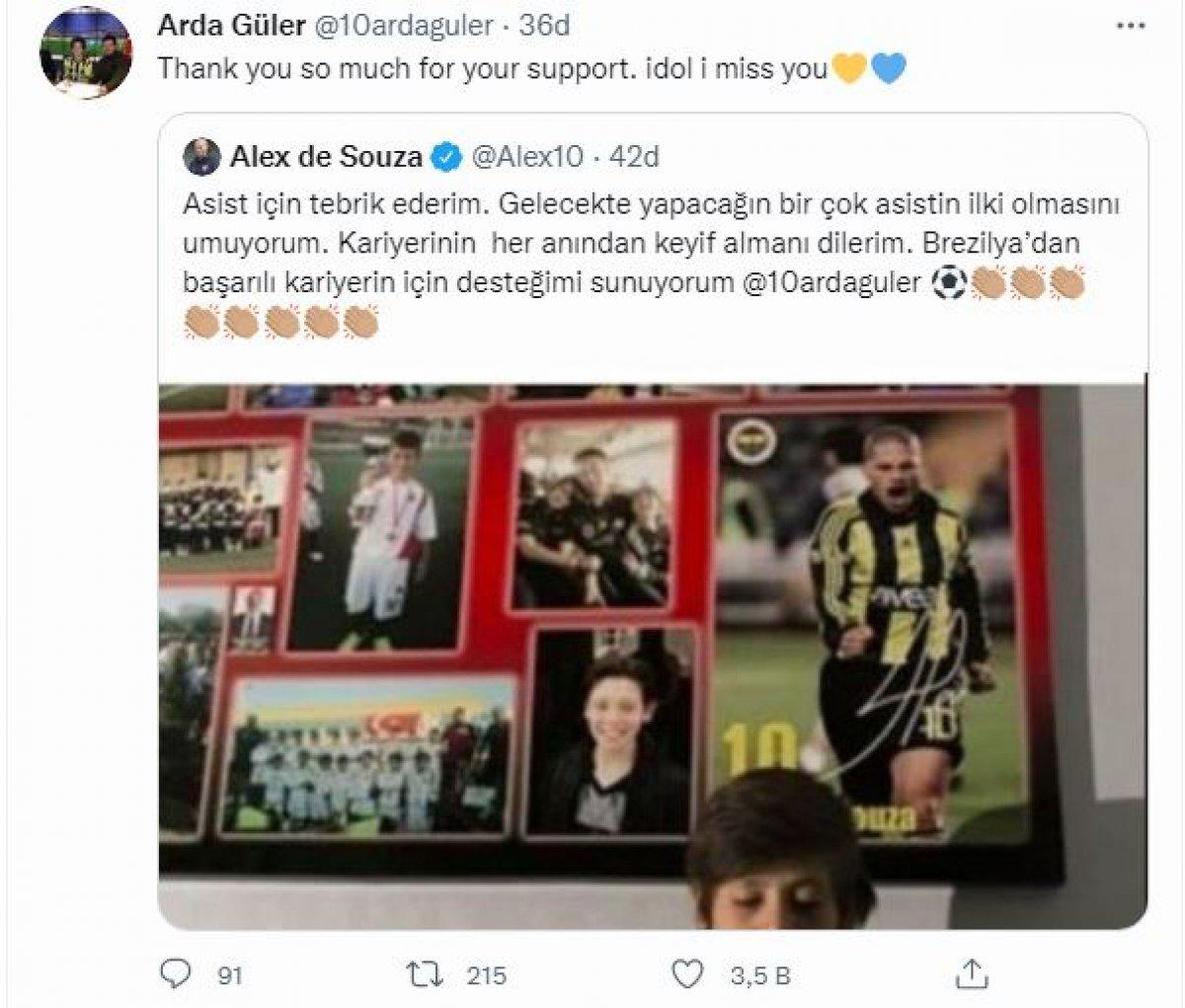Alex de Souza, Arda Güler i tebrik etti #2