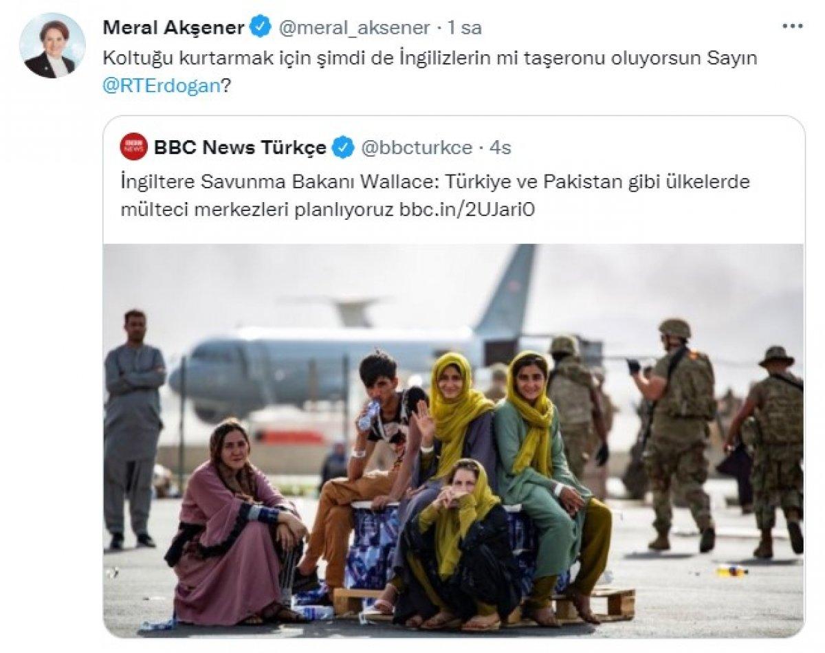 Kılıçdaroğlu ve Akşener in  Afgan mülteci merkezi  paylaşımları #1