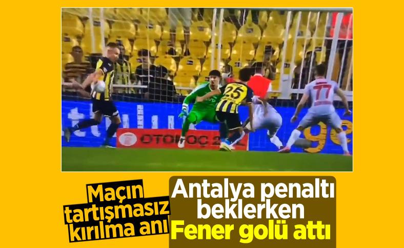Fenerbahçe-Antalyaspor maçında tartışmalı penaltı pozisyonu