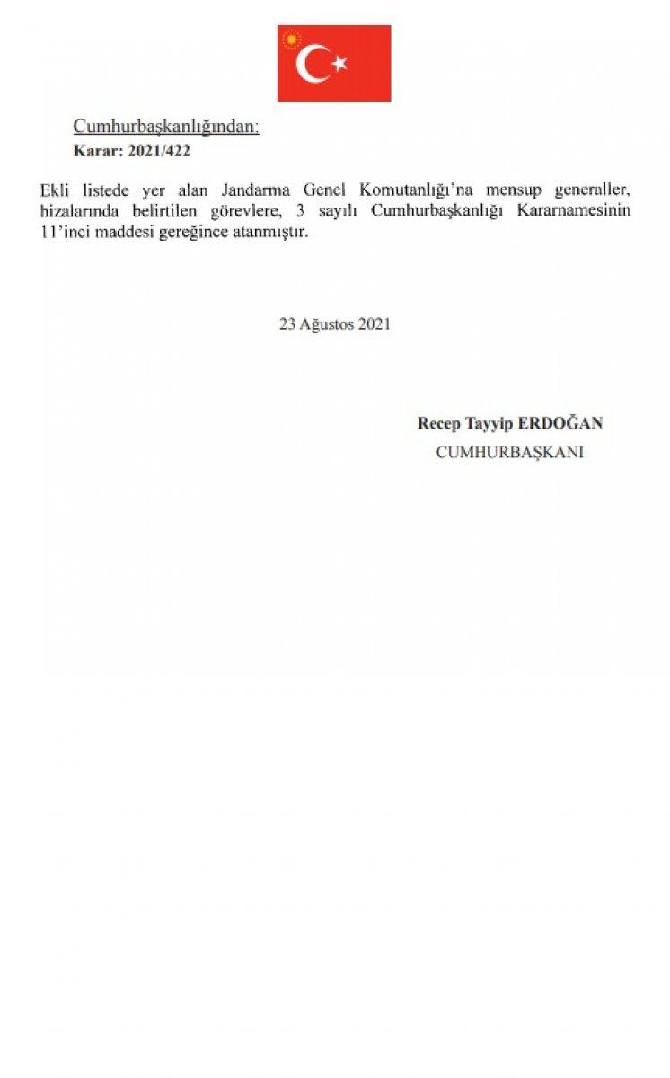 Jandarma Genel Komutanlığı nda atamalar Resmi Gazete de yayınlandı #4