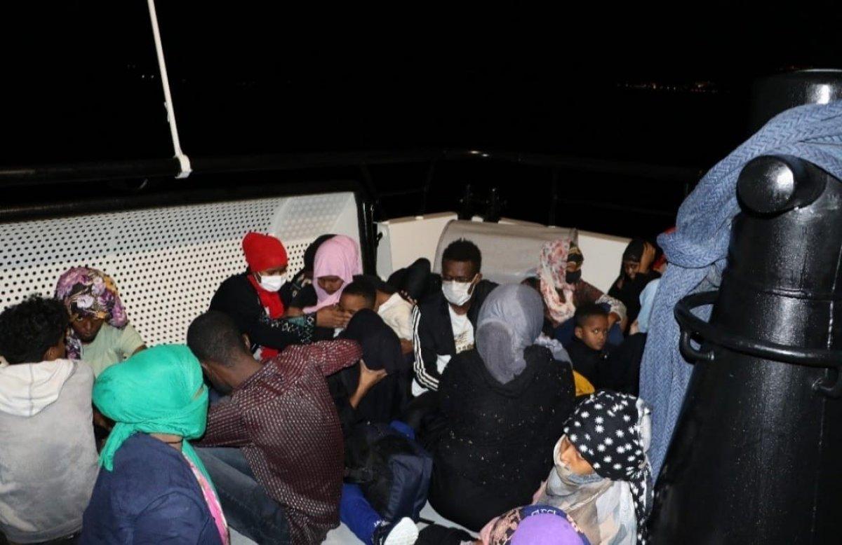Çanakkale de 59 düzensiz göçmen kurtarıldı #2