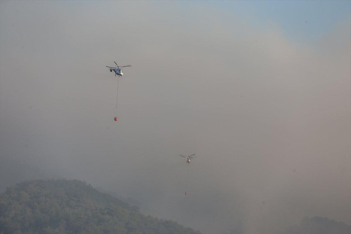 Kaz Dağları'nda yangın devam ediyor #8