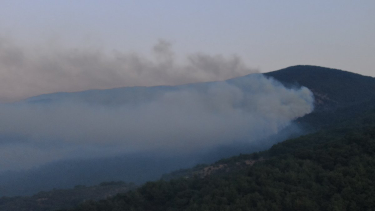 Kaz Dağları'nda yangın devam ediyor #1