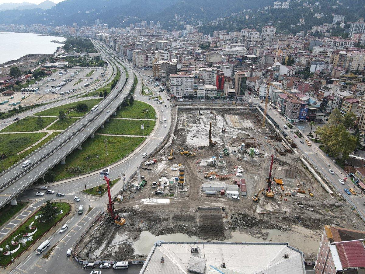 Rize'de tarihi dönüşüm başladı: Yeni yapılar kazıklarla kayalara sabitlenecek #6