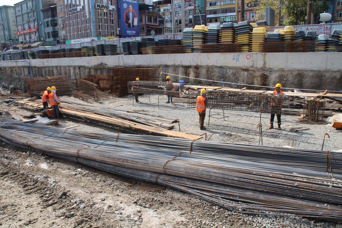 Rize'de tarihi dönüşüm başladı: Yeni yapılar kazıklarla kayalara sabitlenecek #3