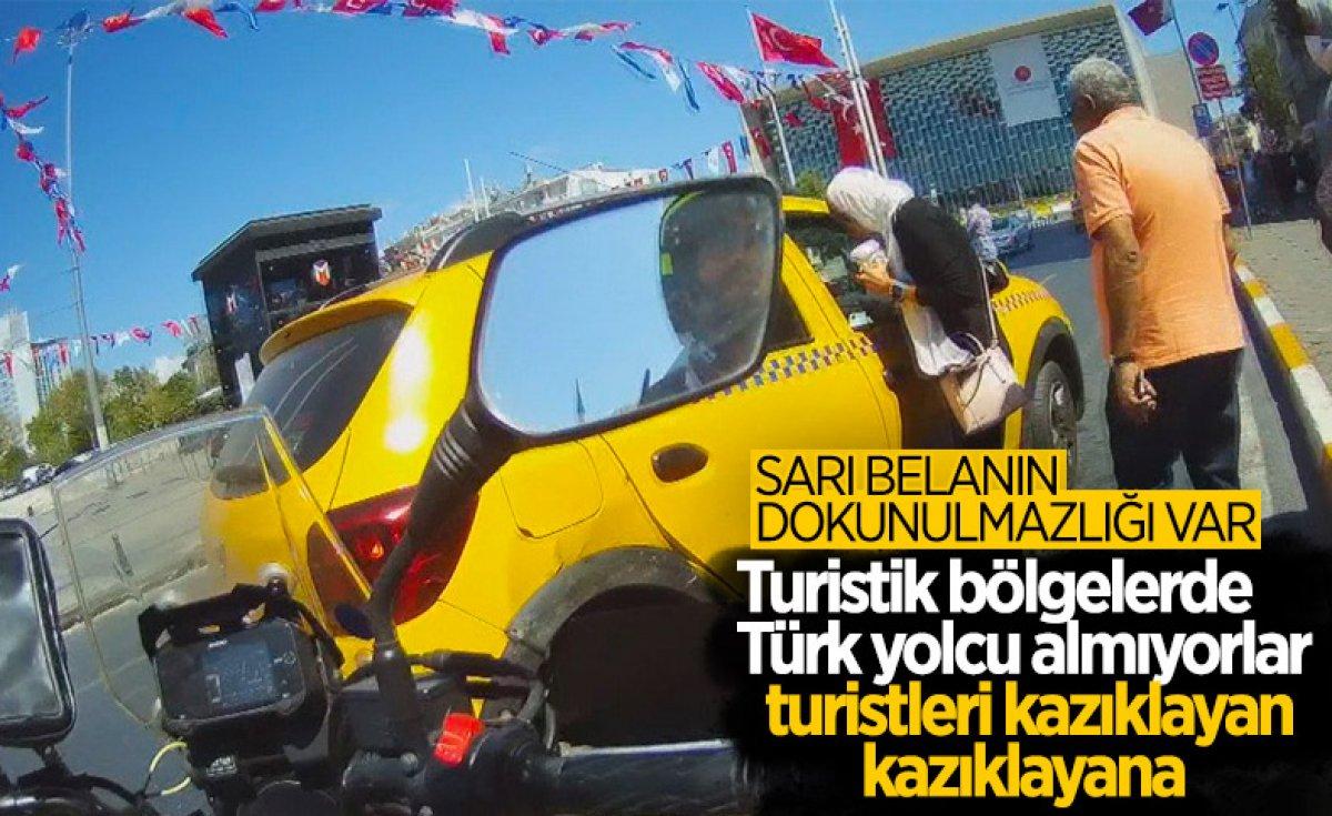 Beyoğlu nda turistleri mağdur eden taksici trafikten men edildi #4