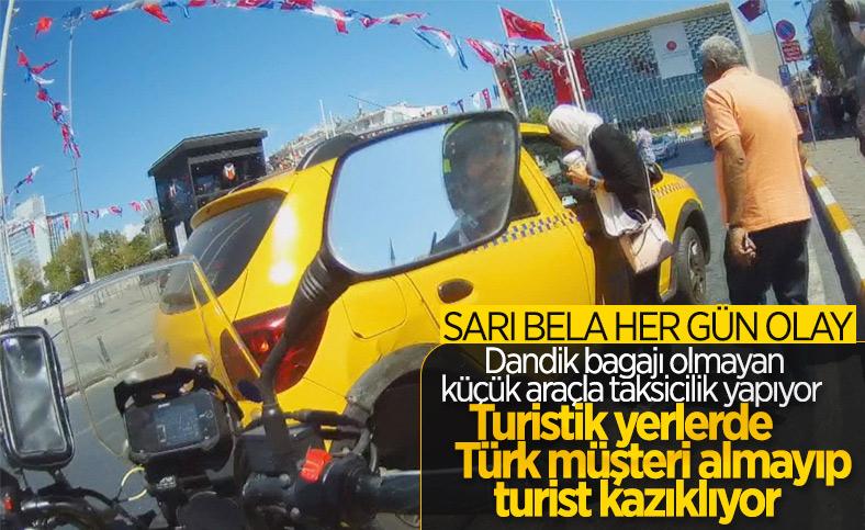 Beyoğlu'nda turistleri mağdur eden taksici trafikten men edildi