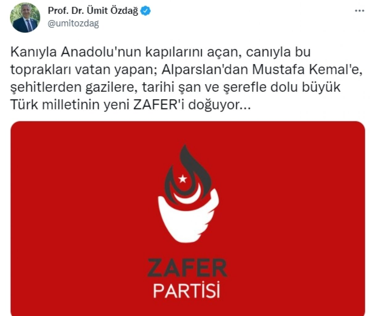 Ümit Özdağ, partisinin adını Arapçadan seçti #2