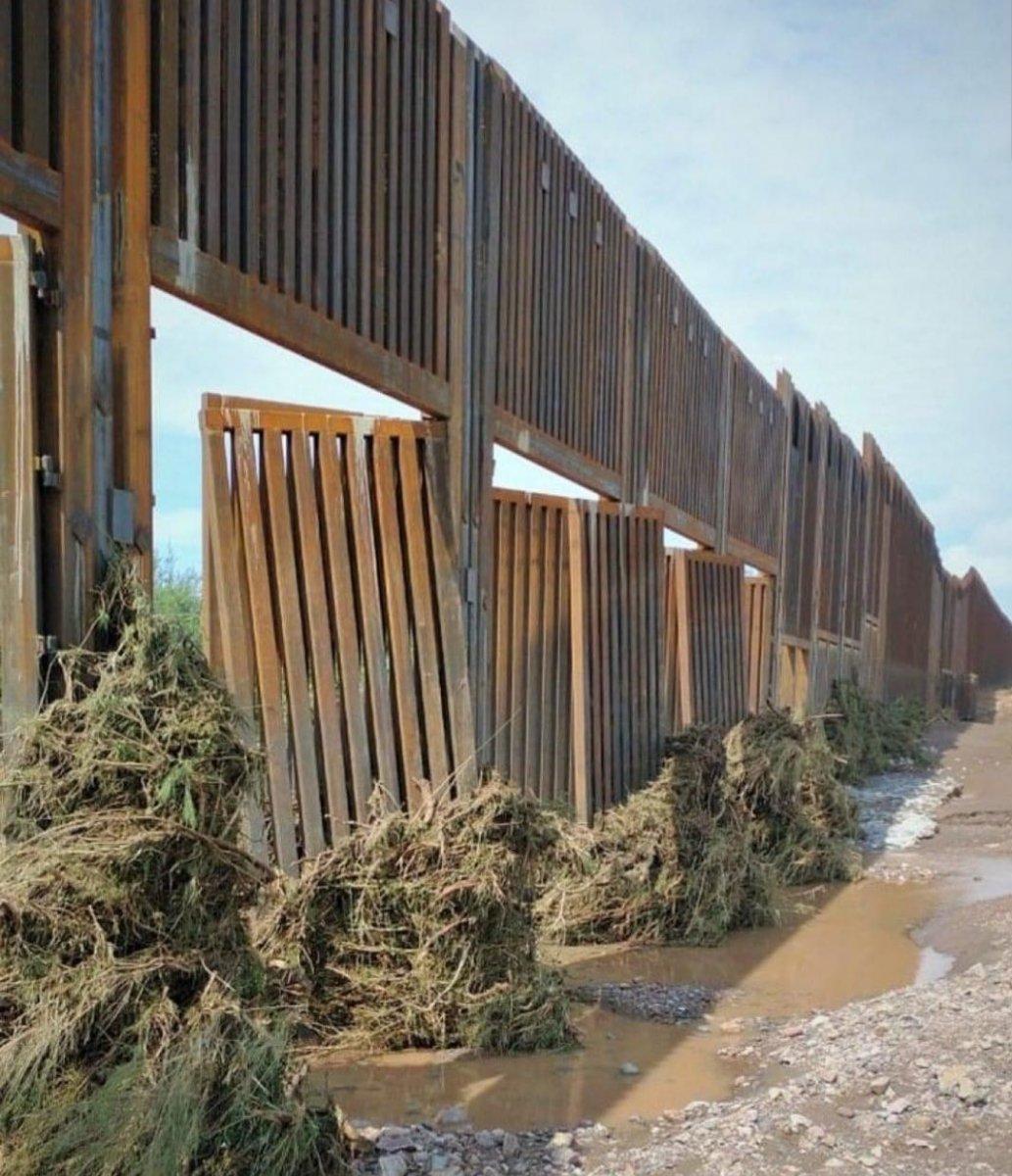 Trump ın Arizona da yaptırdığı duvar yıkıldı #2