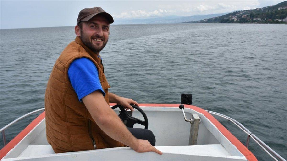 Trabzonlu balıkçının ağına köpek balığı takıldı #3