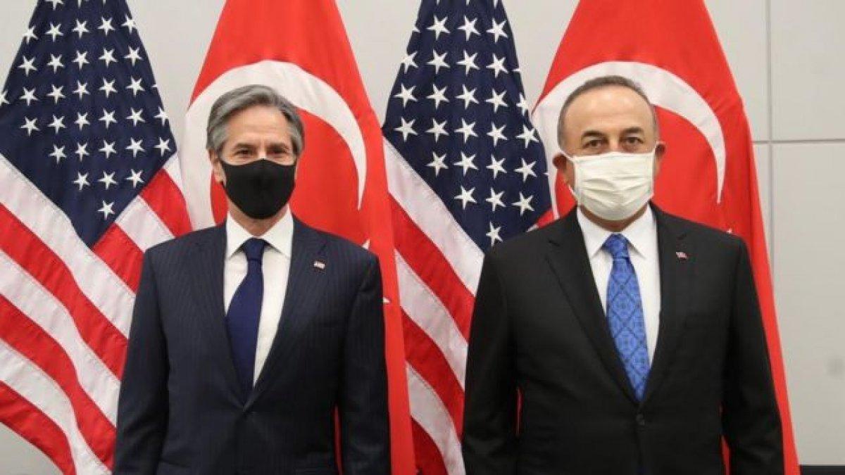 Mevlüt Çavuşoğlu, ABD li mevkidaşı Blinken la görüştü #1