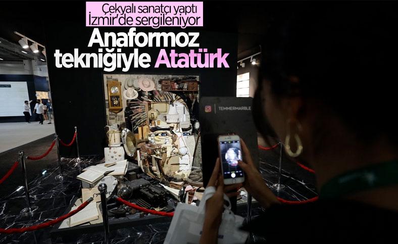 Anaformoz Atatürk eseri, İzmir'de sergilendi