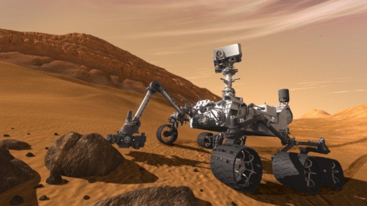 NASAnın Curiosity Mars aracından yeni selfie