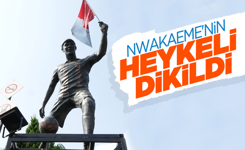 Trabzonsporlu taraftar Nwakaeme'nin heykelini yaptırdı