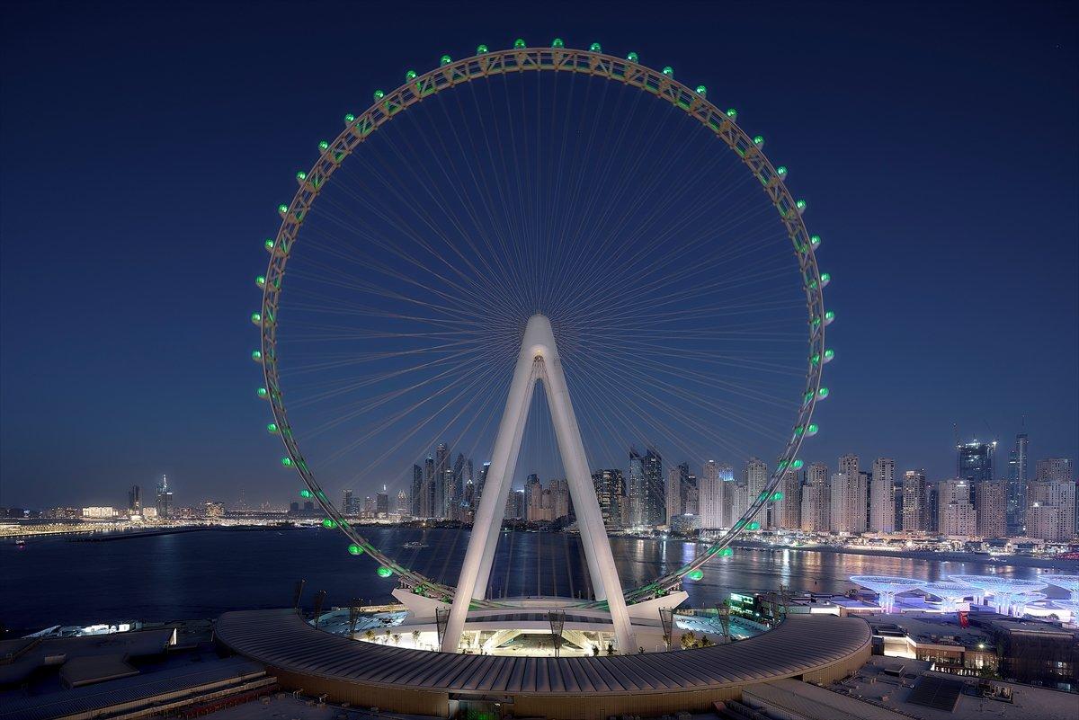 Dubai de 1750 kişilik dünyanın en büyük dönme dolabı #9