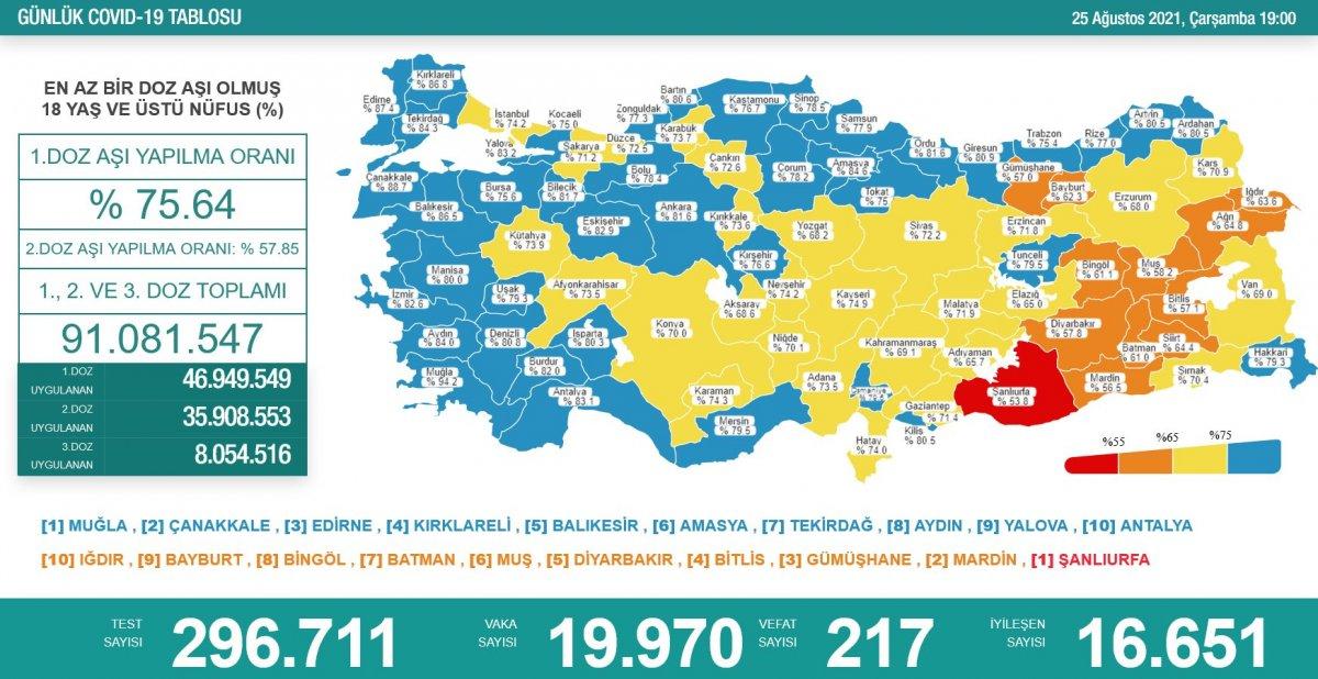 25 Ağustos 2021: Koronavirüs vaka tablosu açıklandı mı? 25 Ağustos 2021 vaka ve ölüm sayısı.. #1