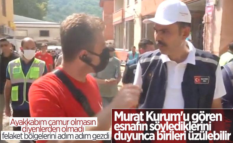 Bozkurtlu esnaftan yardımlar için Murat Kurum'a teşekkür konuşması