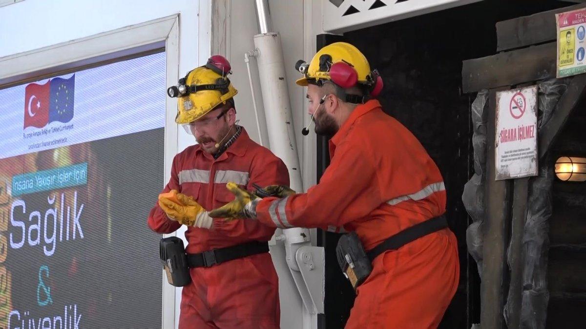 Madenlerdeki iş güvenliği tiyatro ile anlatılıyor #2