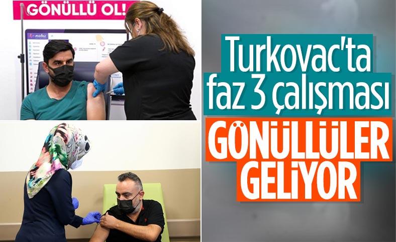 Kayseri'de Türk aşısı, faz 3 çalışması kapsamında gönüllülere uygulanmaya başlandı