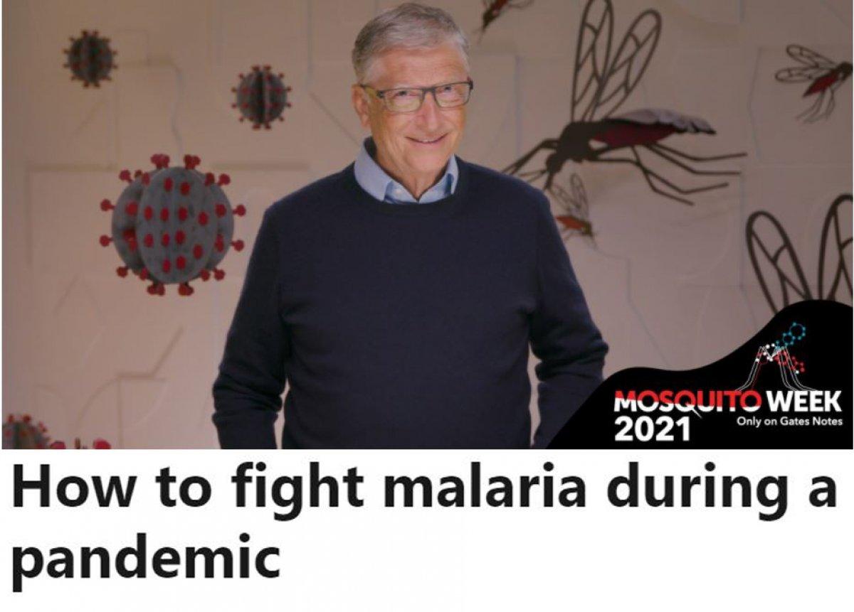 Bill Gates ten sıtmayla nasıl mücadele edilir yazısı #3