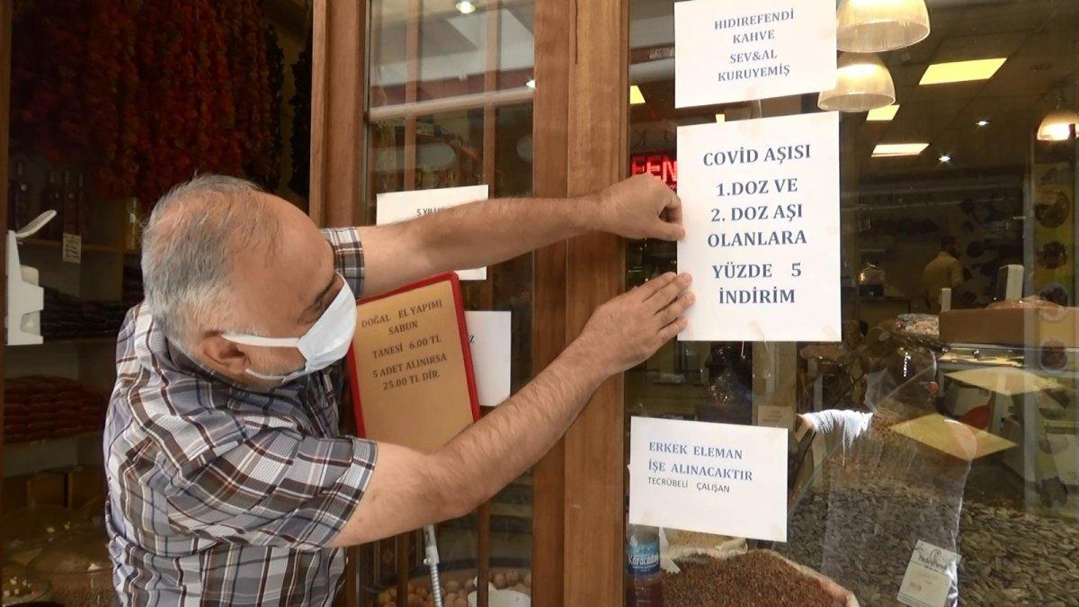 Diyarbakır da esnaftan aşılı müşteriye indirim kampanyası #1