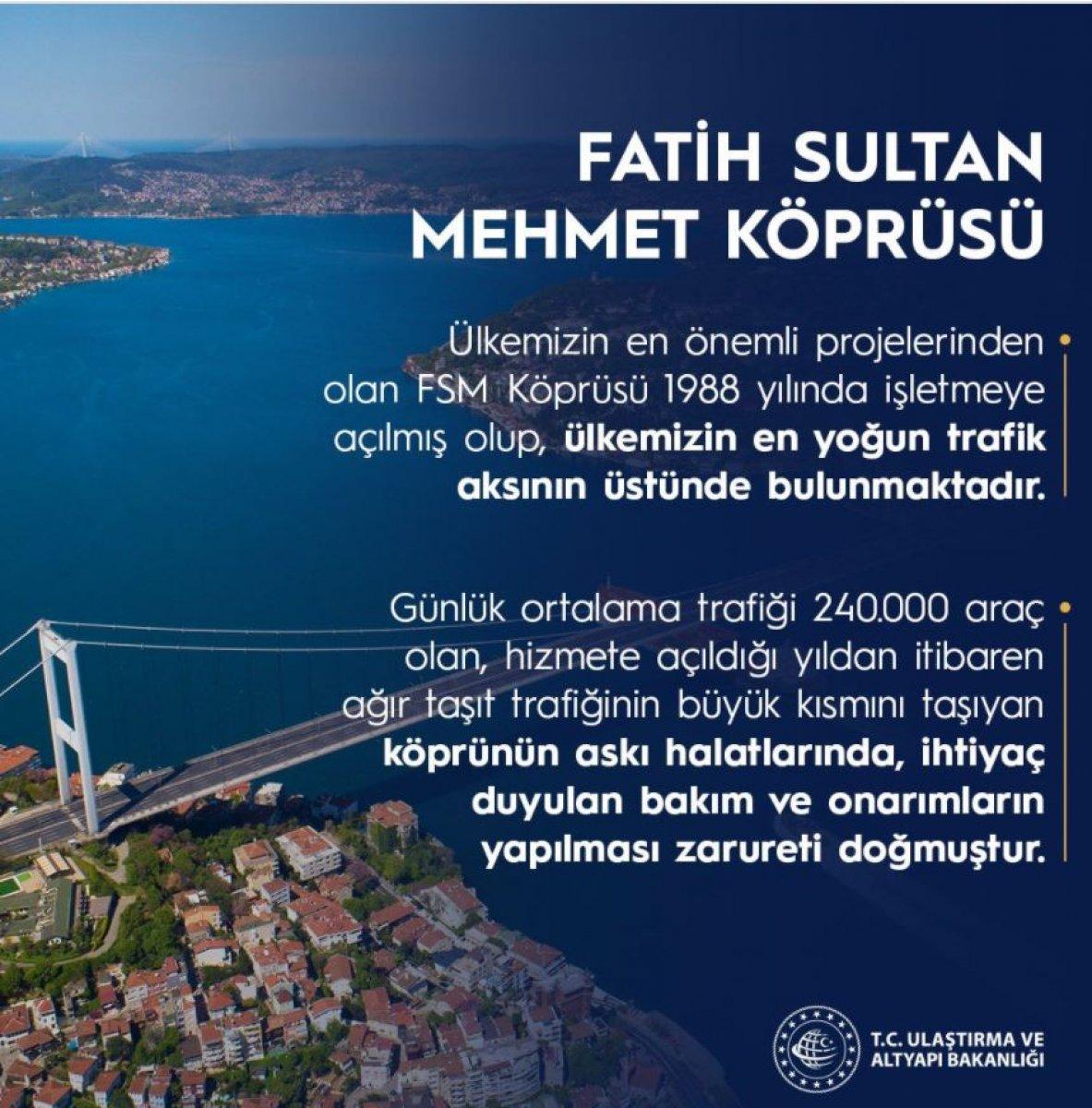 Ulaştırma ve Altyapı Bakanlığı ndan FSM Köprüsü açıklaması #2