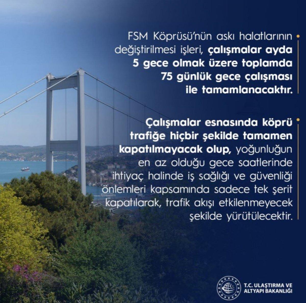 Ulaştırma ve Altyapı Bakanlığı ndan FSM Köprüsü açıklaması #3
