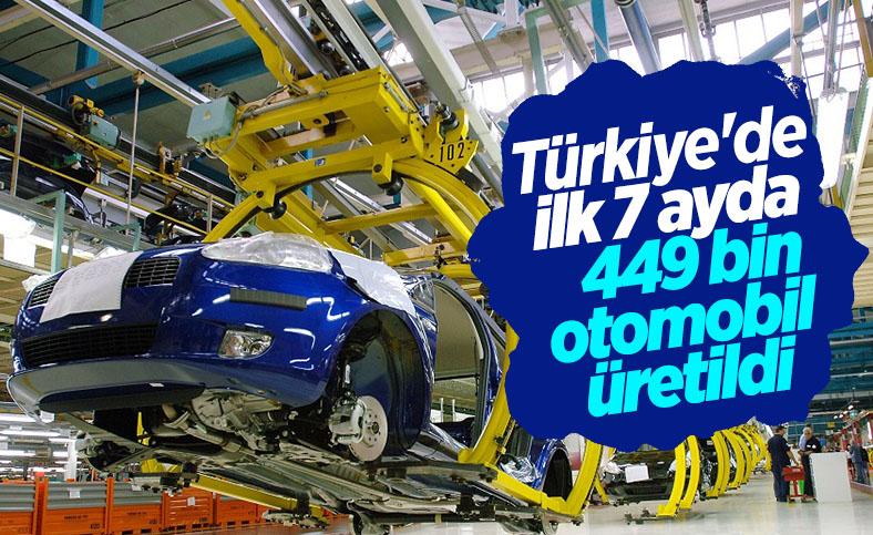Türkiye'de ilk 7 ayda 449 bin otomobil üretildi